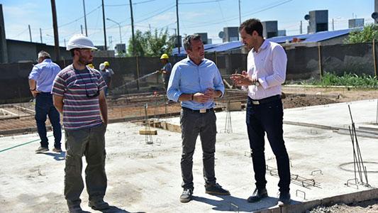 Avanza la obra de las 47 viviendas en barrio Evita