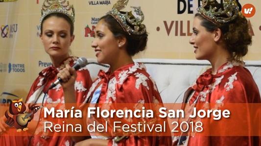 María Florencia San Jorge es la nueva Reina de Peñas