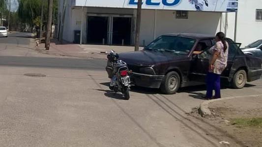 Motociclista menor de edad terminó accidentada