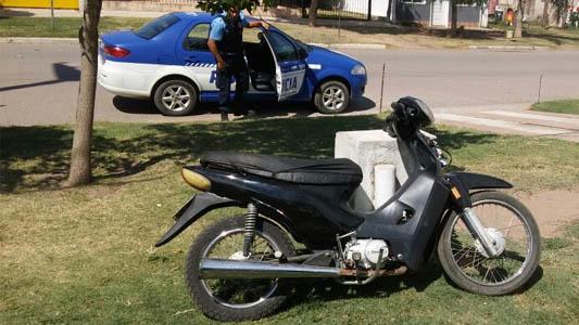 Etruria: recuperaron una moto que había sido robada