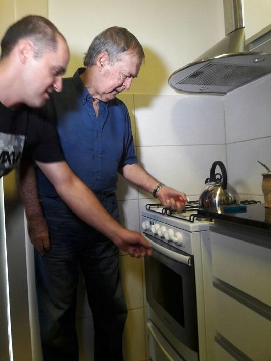 schiaretti prendiendo hornalla