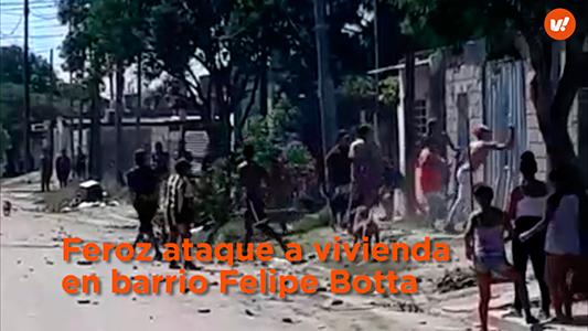 Feroz ataque a piedrazos contra una casa en barrio Felipe Botta