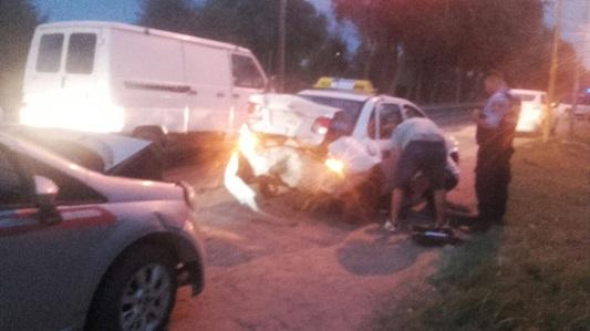 Triple choque en cadena de madrugada en Villa Nueva