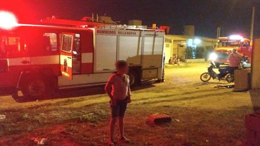Otro incendio: esta vez en una vivienda de Villa Nueva