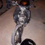 moto parque norte choque