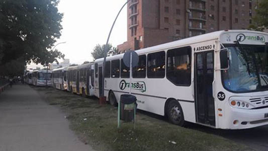 Las asambleas interrumpieron el normal funcionamiento del transporte público local