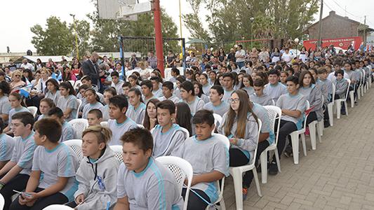 Así es la nueva escuela que inauguró Schiaretti en Arroyo Algodón