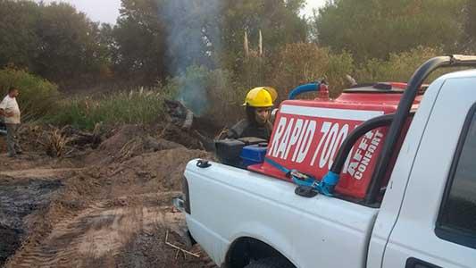 Fuego en pastizales y maderas agitaron el día de bomberos de Villa Nueva