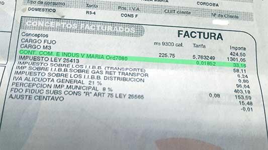 Detectan cobro no autorizado por el municipio en las boletas de gas