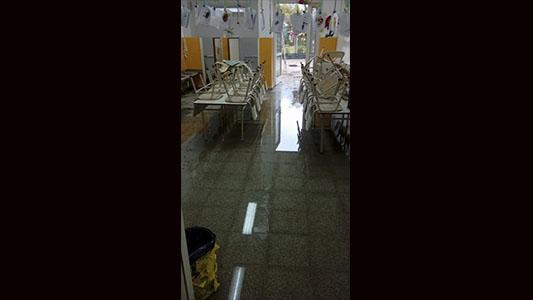 Jardín de Infantes se inundó por las lluvias y no podrán dictar clases