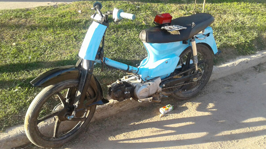 Ocurrieron tres choques protagonizados por jóvenes motociclistas