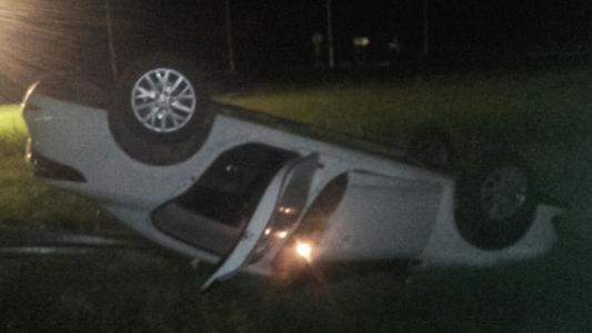 ¿Pasó de largo? Accidente en la rotonda sin luz de rutas 158 y 2