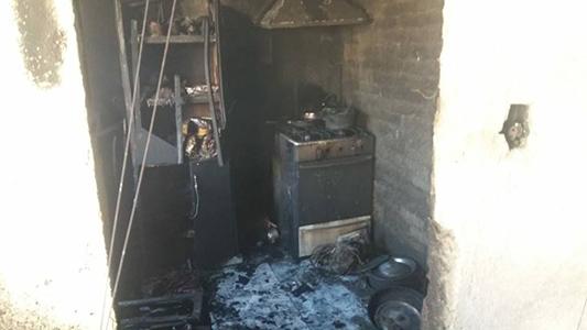 Detuvieron al que incendió su casa después de una discusión de pareja
