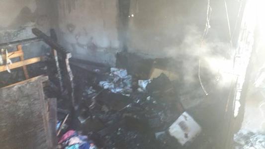 El incendio fue intencional: un hombre lo provocó luego de discutir con su pareja