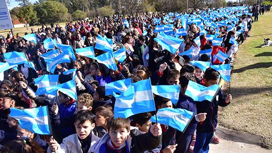 Cómo fue el acto en la ciudad por el Día de la Bandera Nacional