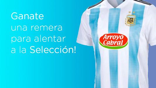 Tenemos ganador de la remera de Argentina para alentar a la Selección!