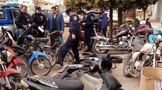 Impresionante despliegue en busca de motos robadas