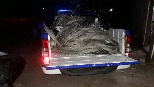 Robo Epec: recuperan más de 250 kilos de cable
