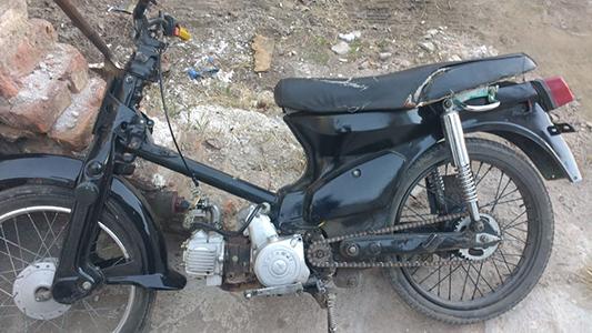 Villa Nueva: menor detenido por circular con una motocicleta con motor cambiado