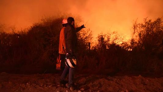 Alerta máxima por incendios forestales en toda la provincia