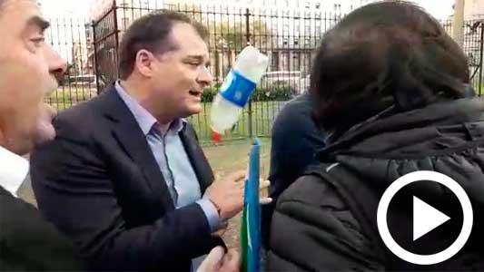 Capitani fue abordado e insultado por un grupo de ATE en Buenos Aires
