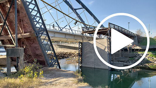 Seis meses de la caída del puente: ¿Cómo está hoy la obra?