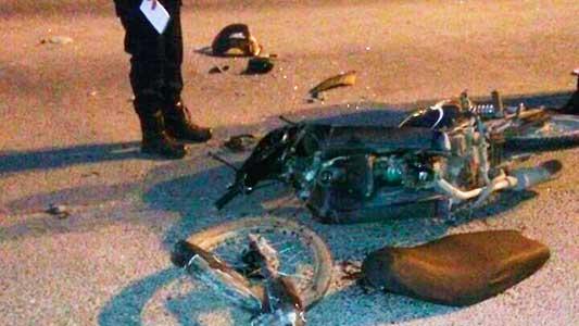 Heridas graves para un hombre que chocó en su motocicleta