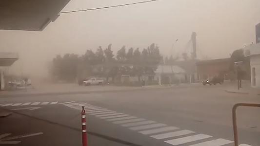 Alerta por vientos fuertes con ráfagas y escasa visibilidad