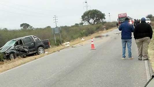 Accidente fatal para villamariense en Catamarca: Camioneta dio varios tumbos