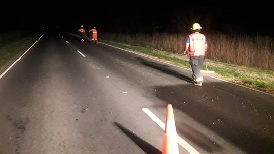 Carga derramada: camión perdió cereal en 3 kilómetros de ruta