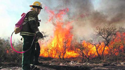 Alerta por riesgo muy alto de incendios forestales en la Provincia