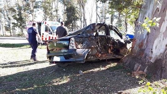 Accidente fatal en ruta 9: chocó contra un árbol y murió