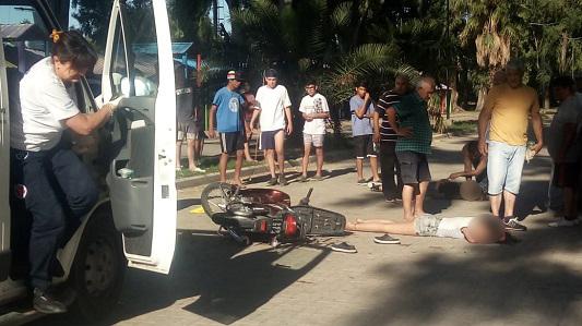 Dos chicas de 15 y 14 años, accidentadas en el Parque de Villa Nueva