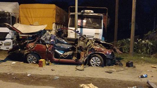 Identificaron a las víctimas del trágico accidente sobre ruta 158
