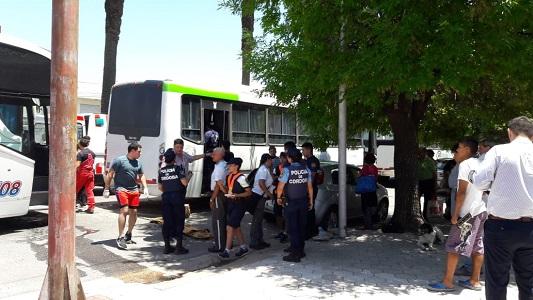 Chocaron tres colectivos en cadena: seis heridos trasladados