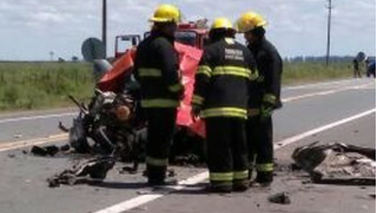 Choque fatal en la ruta 158: Murió ex comisario cerca de Luca