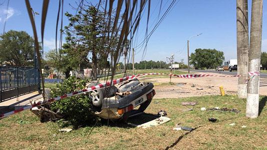 Iban seis en un Fiat 147 y murió una de las ocupantes en Pozo del Molle