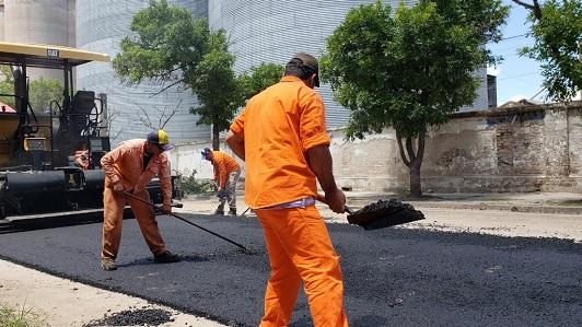 Se va emparejando avenida Alem: La obra quedaría lista en 25 días