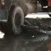Moto se metió bajo las ruedas de un camión en cruce de Villa Nueva