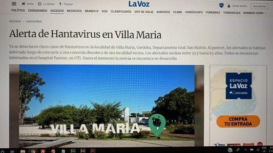 Falsa noticia: No es verdad la supuesta alerta por Hantavirus en Villa María