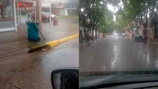 Cuadrillas municipales monitorean los barrios a raíz de la lluvia caída