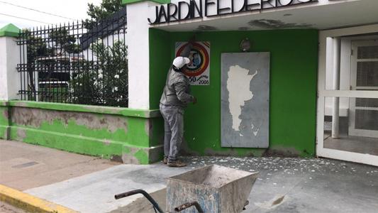 Villa Nueva se prepara para el inicio de clases: obras de mejoras edilicias en escuelas