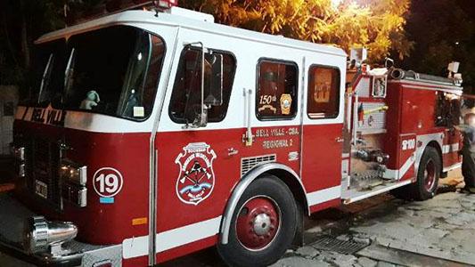 Incendio en una vivienda en Bell Ville: Se quemó por completo una habitación