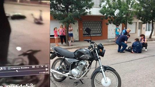 Video: Chocaron a una mujer, la dejaron tirada y ni pararon