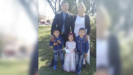 Dolorosa despedida a la familia fatalmente accidentada en ruta 4
