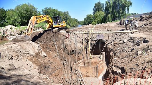 Avanza la construcción del nuevo puente que unirá ambas Villas