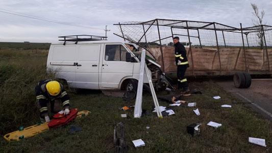 Comisionista villamariense perdió la vida en choque en Ruta 11