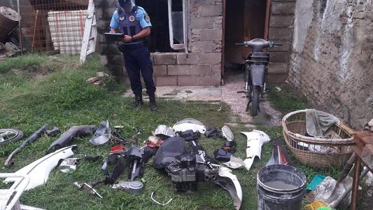 Desguazan en Villa María motos robadas en Bell Ville y Hernando