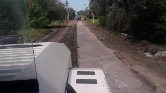 Municipio y Provincia trabajan en la repavimentación del último tramo de avenida Savio