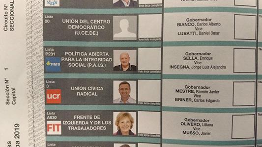 Elecciones provinciales: Qué pasa con la foto de Sella en la boleta única
